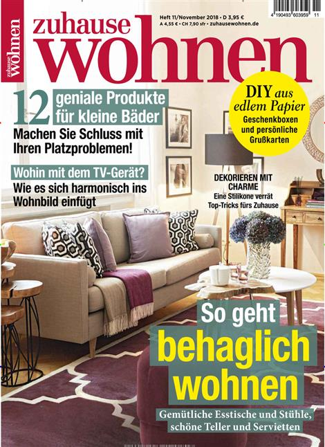 zuhause wohnen abo zuhause wohnen probe abo zuhause wohnen geschenkabo bei presseplus. Black Bedroom Furniture Sets. Home Design Ideas