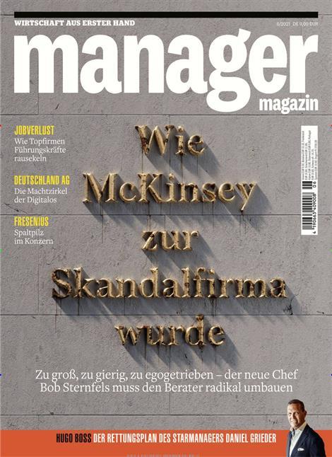 Das Cover der Zeitschrift Manager Magazin