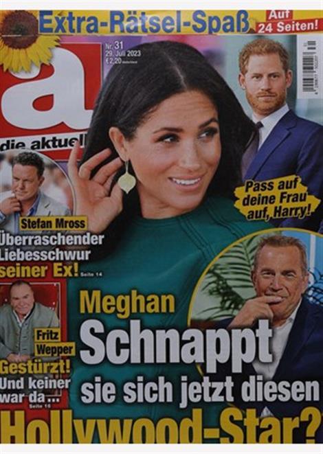 Cover der Promizeitschrift die aktuelle