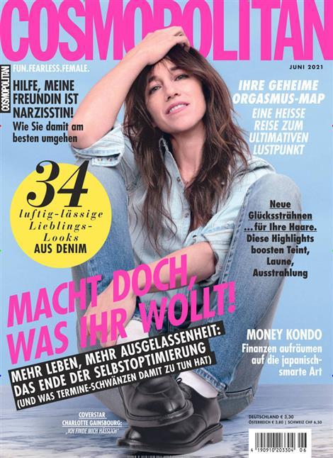 Das Cover der Zeitschrift Cosmopolitan