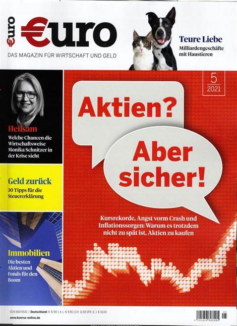 Das Cover der Zeitschrift Euro Magazin