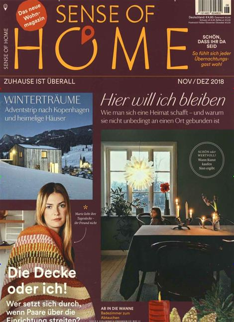 sense of home abo sense of home probe abo sense of home geschenkabo bei presseshop. Black Bedroom Furniture Sets. Home Design Ideas
