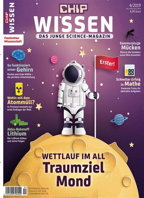 Chip Wissen - Wettlauf im All Traumziel Mond Cover