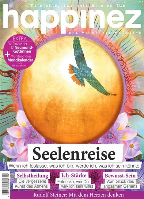 Das Cover der Zeitschrift Happinez