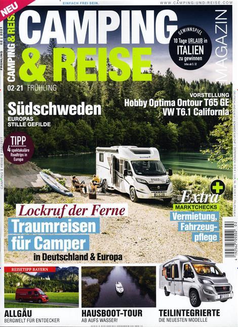 Das Cover der Zeitschrift Camping & Reisen Magazin