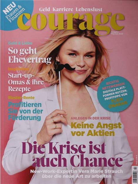 Cover der Courage – dem Wirtschafts- und Anlagemagazin für Frauen