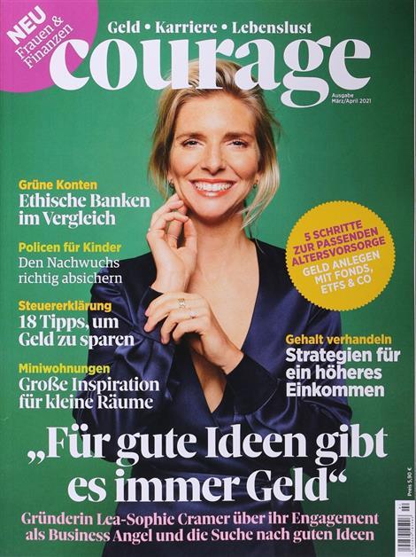 Das Cover der Zeitschrift Courage