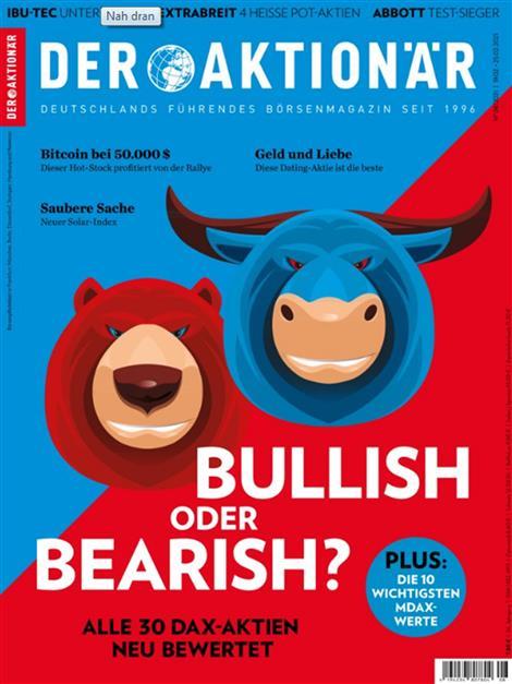 Das Cover der Zeitschrift Der Aktionär