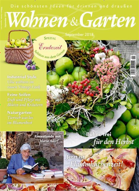 Wohnen & Garten 2018/ 9 Cover