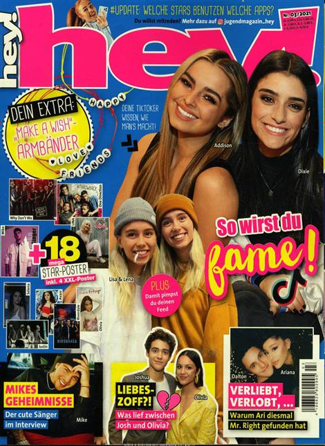 Cover des Magazins Hey!