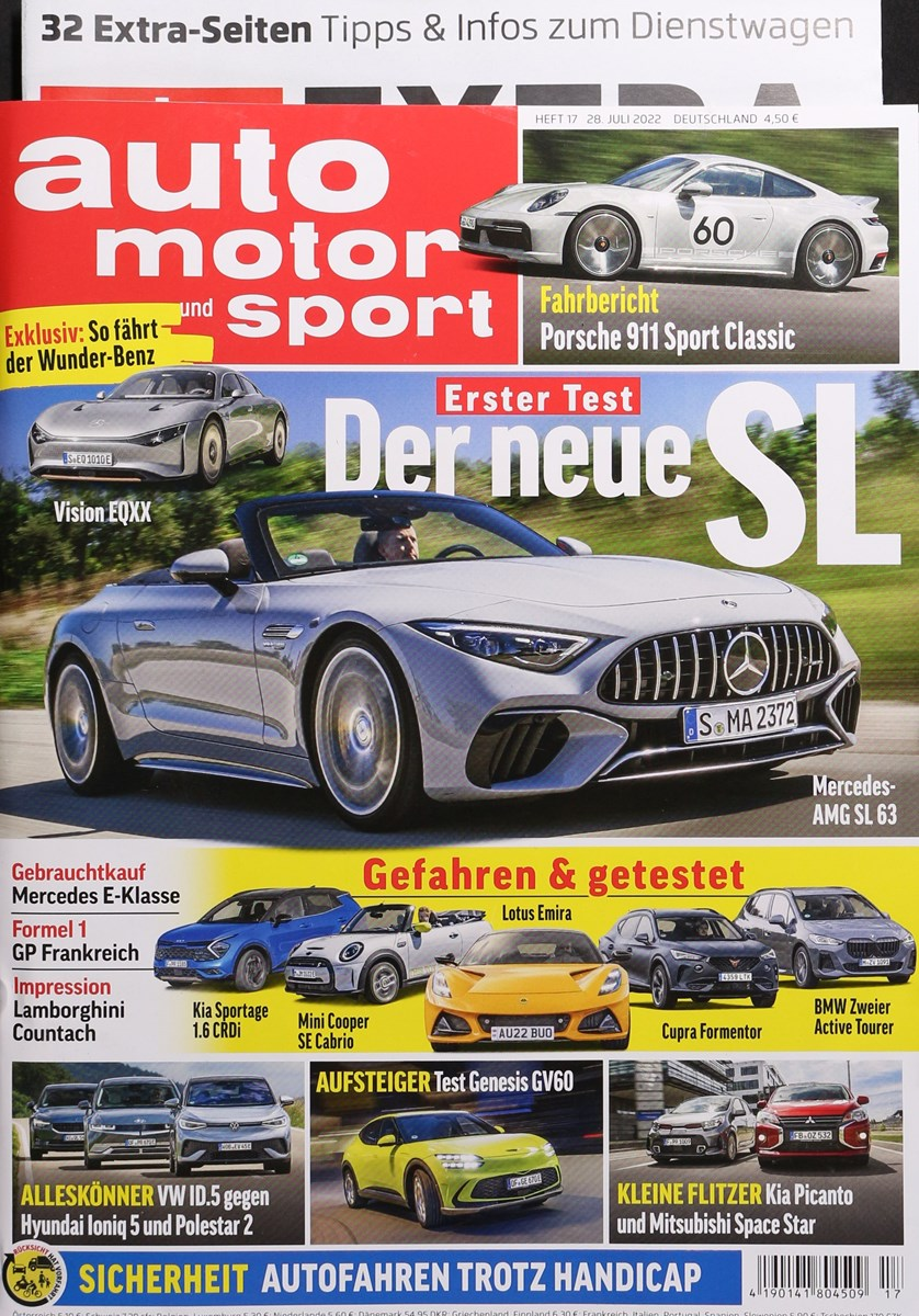 Cover der auto motor und sport