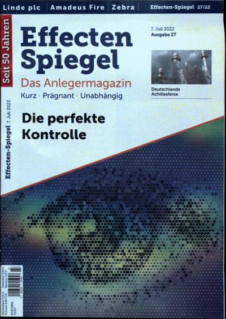 Das Cover des Effecten Spiegel