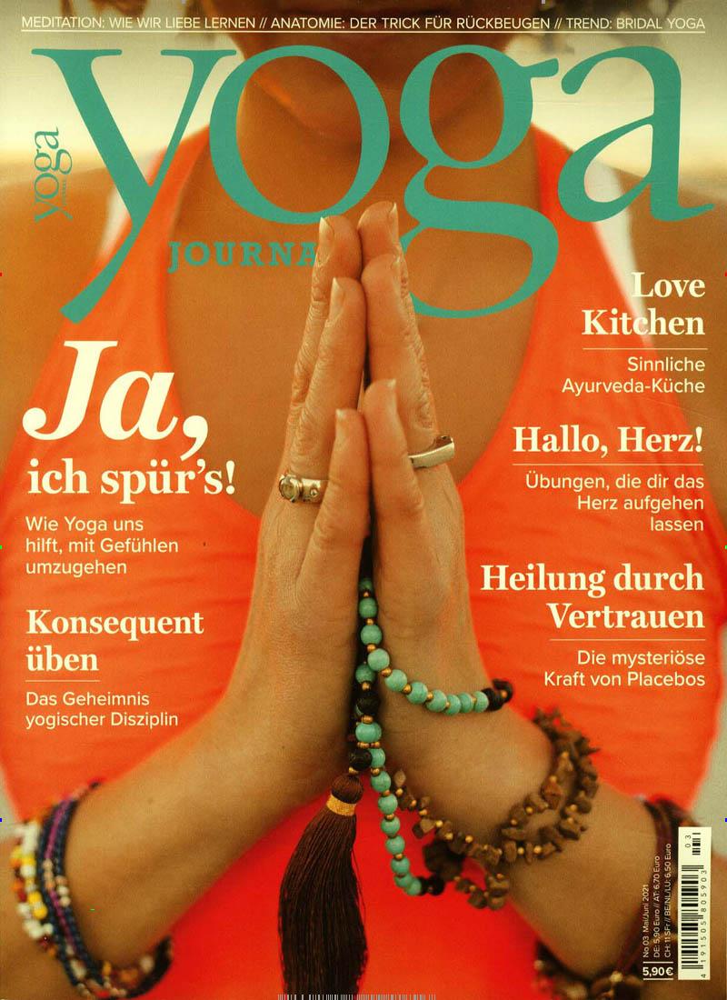 Das aktuelle Cover des Yoga Journals.