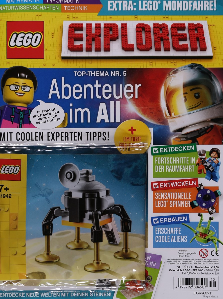 Das aktuelle Cover des Lego Explorer Magazins.