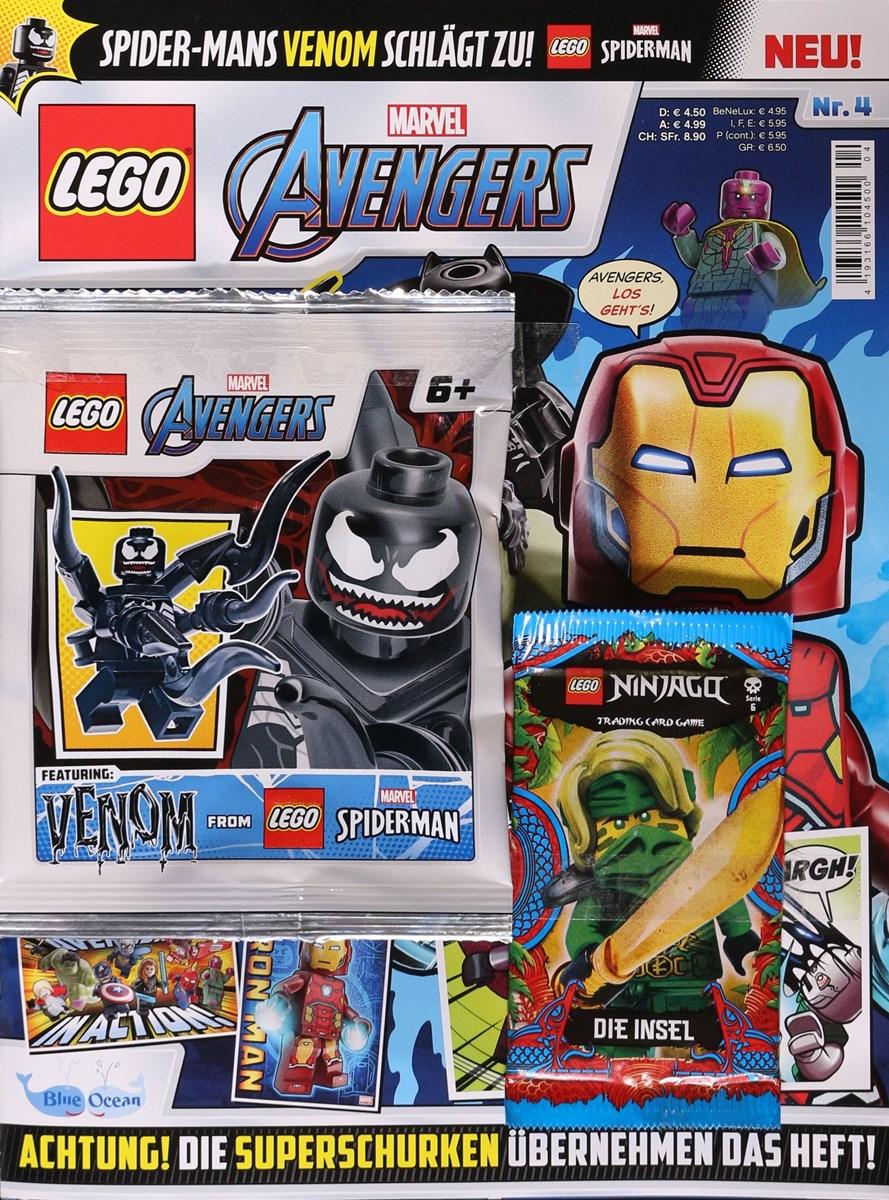 Das aktuelle Cover des Lego Marvel Avenger Magazins.
