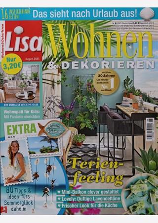 lisa wohnen und dekorieren abo zeitschriften abo. Black Bedroom Furniture Sets. Home Design Ideas