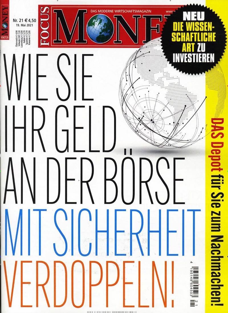 Das Cover der Zeitschrift Focus Money