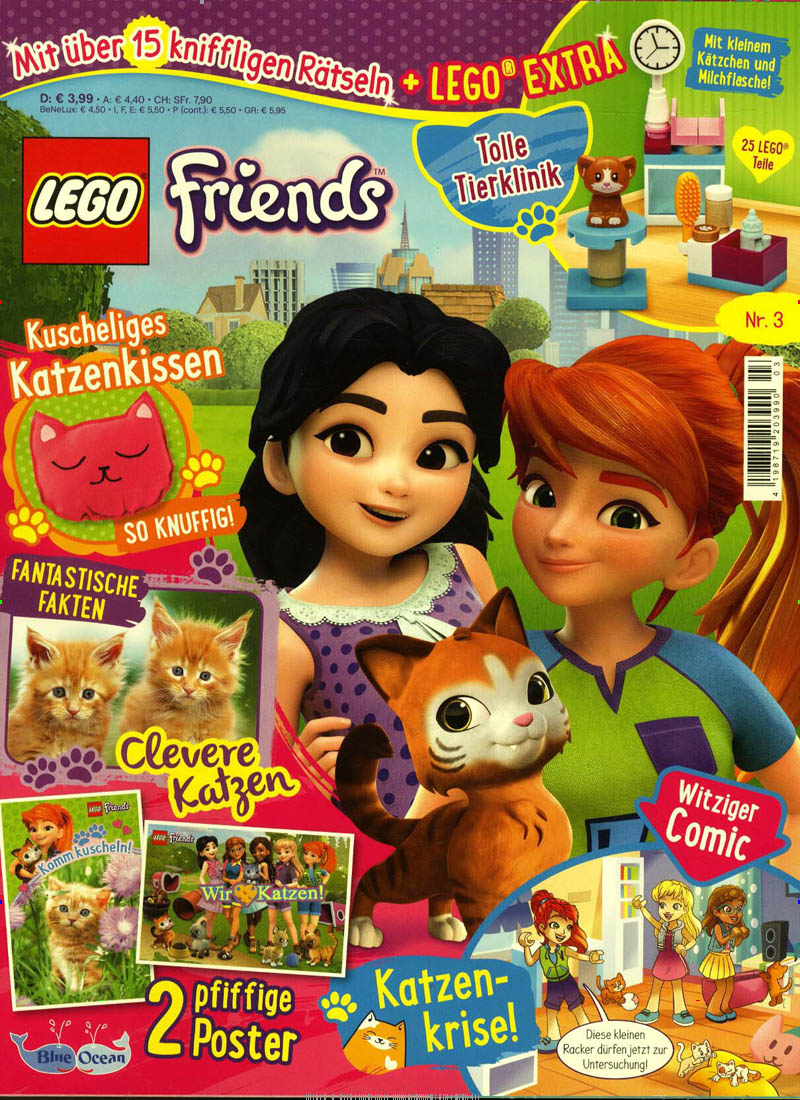 Das aktuelle Cover des Lego Friends Magazins.