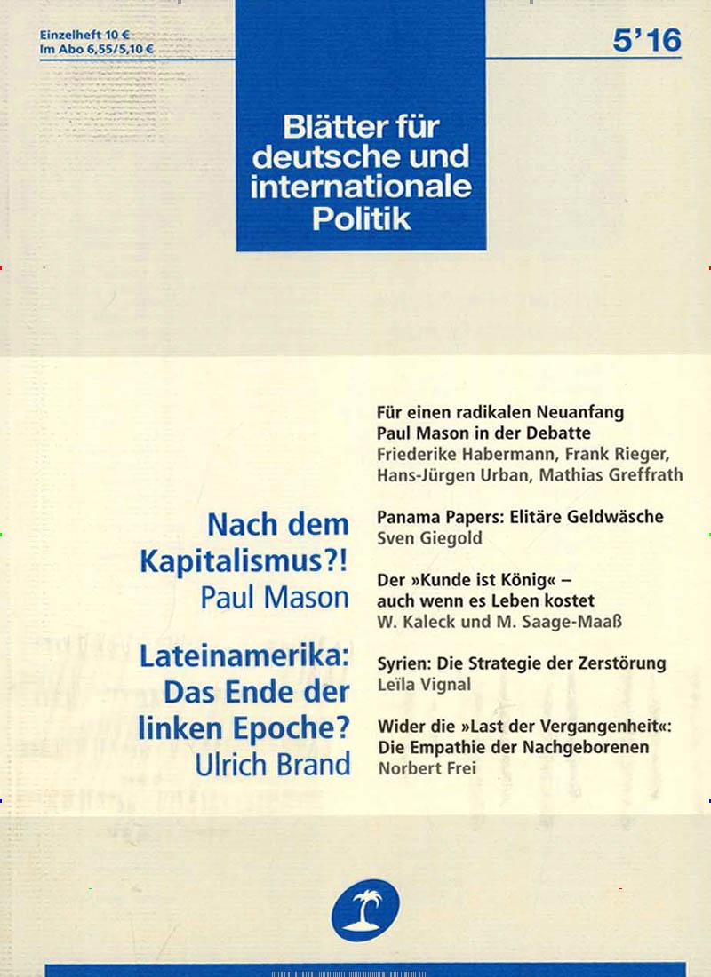 Blatter Fur Deutsche Und Internationale Politik Abo 35 Rabatt Auf Mini Geschenkabo Presseplus De